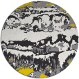 rug #1056758 | round yellow abstract rug