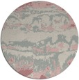 rug #1056790 | round pink abstract rug