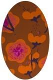 rug #105681 | oval red-orange natural rug