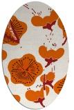 rug #105685 | oval red-orange rug