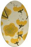 rug #105705   oval yellow natural rug