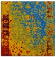 rug #1060882 | square blue graphic rug