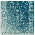 rug #1060922 | square blue-green abstract rug