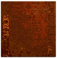 rug #1061118 | square red-orange abstract rug