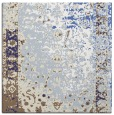 rug #1061146 | square blue abstract rug