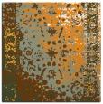 rug #1061210 | square light-orange abstract rug
