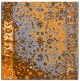 rug #1061214 | square light-orange abstract rug