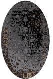 rug #1061230 | oval beige abstract rug