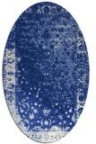 rug #1061266 | oval blue abstract rug