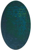 rug #1061286 | oval blue graphic rug