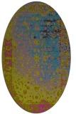 rug #1061302   oval pink abstract rug