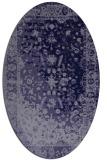 rug #1061306   oval blue-violet traditional rug
