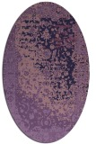 rug #1061318 | oval blue-violet traditional rug