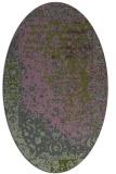 rug #1061358 | oval green traditional rug