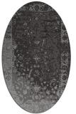 rug #1061370 | oval mid-brown rug