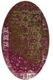 rug #1061374 | oval beige graphic rug