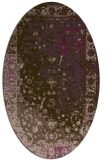 rug #1061454 | oval traditional rug