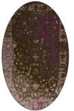 rug #1061454 | oval purple abstract rug