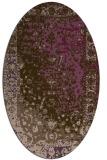 rug #1061455 | oval abstract rug