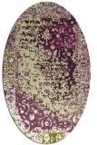 rug #1061458 | oval green traditional rug