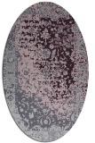 rug #1061466 | oval purple traditional rug