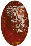 rug #1061498 | oval red-orange graphic rug