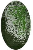 rug #1061502 | oval light-green rug