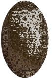 rug #1061530 | oval beige abstract rug