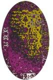 rug #1061542 | oval yellow graphic rug