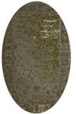 rug #1061566 | oval light-green rug