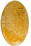 rug #1061570 | oval light-orange graphic rug