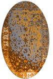 rug #1061582 | oval light-orange traditional rug