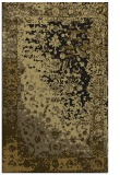 rug #1061606 |  mid-brown abstract rug