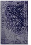 rug #1061674    blue-violet graphic rug