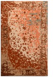 rug #1061802 |  red-orange traditional rug