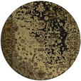 rug #1061974 | round black abstract rug
