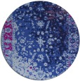 rug #1061990 | round blue abstract rug