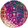 rug #1062078 | round blue-green abstract rug