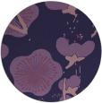 rug #106217 | round purple rug