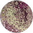 rug #1062194 | round purple traditional rug