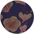 rug #106229 | round blue-violet rug