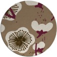 rug #106273 | round mid-brown popular rug