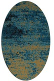 rug #1064926 | oval brown rug