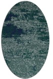 rug #1064938 | oval blue abstract rug