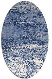rug #1064946 | oval blue abstract rug