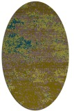 rug #1064978 | oval blue-green abstract rug
