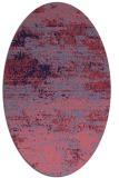 rug #1064994 | oval blue-violet graphic rug