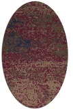 rug #1065006 | oval beige abstract rug