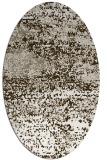 rug #1065058 | oval white rug