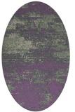rug #1065082 | oval purple abstract rug